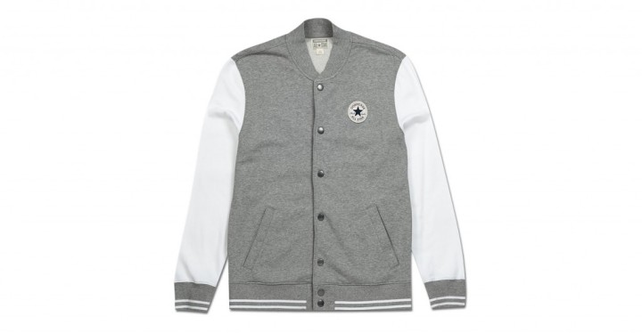 Mens Bowen French Terry Core Baseball Jacket | Converse Singapore
