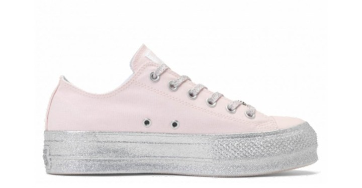 f26abd76f58 Converse x Miley Cyrus Chuck Taylor All Star Lift Glitter Low Top Pink  Dogwood