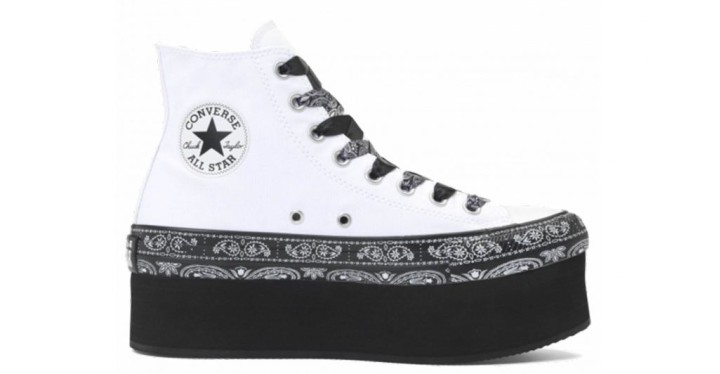 2dfde85da604 Converse x Miley Cyrus Chuck Taylor All Star Platform Bandana High Top White