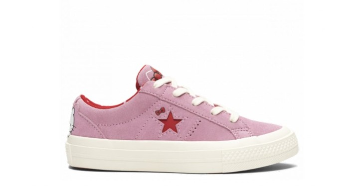 872ecb42f7508c Converse x Hello Kitty One Star Youth Low Top